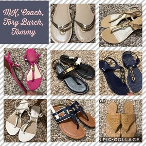 Shoes - Authentic MK Coach and etc Sandals sizes 5 to 6.5